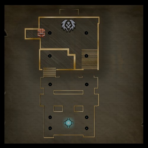 Lunch Break Lower Level Map from Orcs Must Die 2