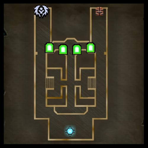 Twin Halls Map from Orcs Must Die 2