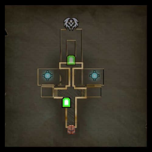 Sludge Hole Upper Level Map from Orcs Must Die 2