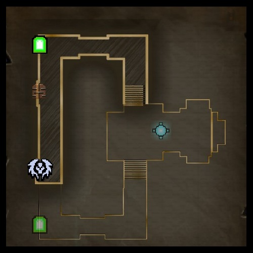 Chaos Chamber Lower Level Map from Orcs Must Die 2