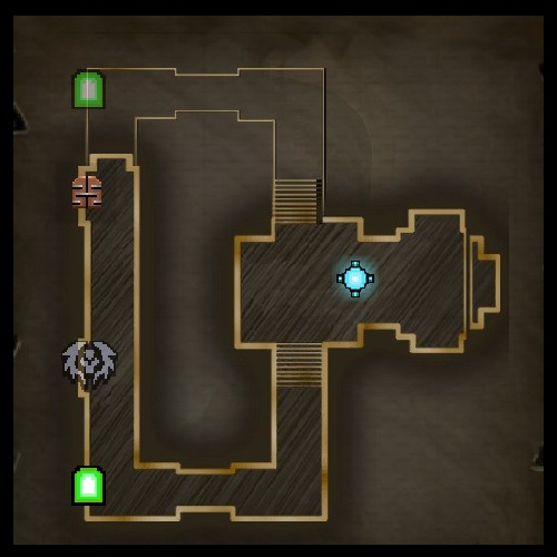 Chaos Chamber Upper Level Map from Orcs Must Die 2