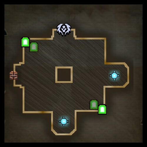 The Arena Lower Level Map from Orcs Must Die 2