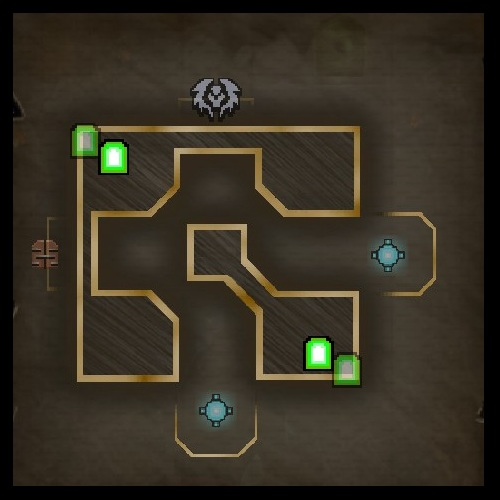 The Arena Upper Level Map from Orcs Must Die 2