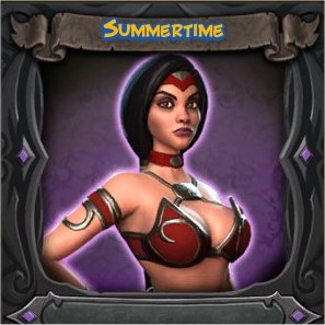 Sorceress Summertime Vanity Skin from Orcs Must Die 2